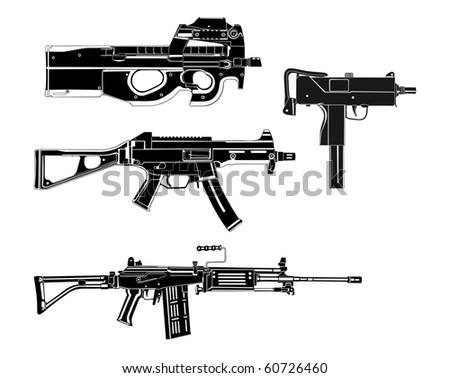 Modern guns - stock vector