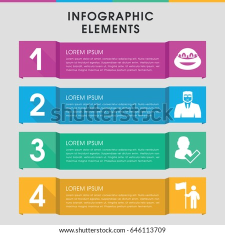 Modern Guy Infographic Template Infographic Design Stock Vector ...