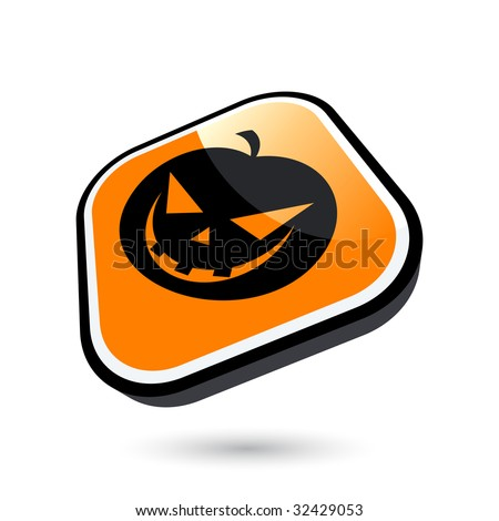 modern halloween sign