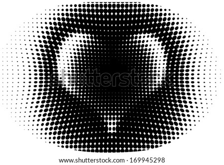 Modern heart vector - isolated modern vector background or halftone graphic element