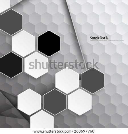 Modern Hexagon Design Background - stock vector