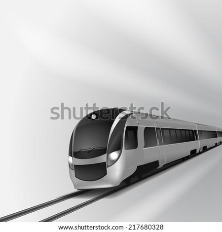 Modern high speed train 2. EPS10 vector. - stock vector