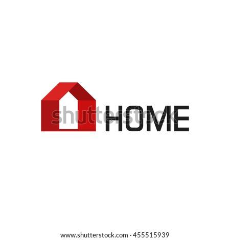 Home Logo modern home logo vector isolated on stock vector 455515939