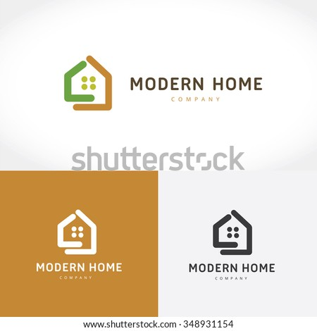 Home symbol stock images royalty free images vectors for Modern house logo
