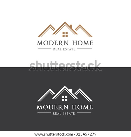 Modern home real estate logohouse logovector stock vector for Modern house logo