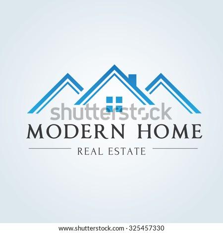Real estate house logo 28 images property logo stock for Modern house real estate