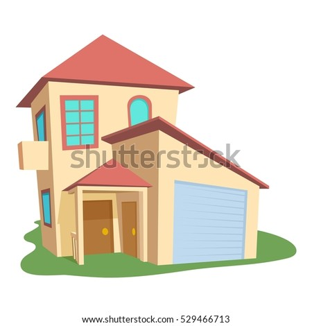 Modern house icon. Cartoon illustration of modern house vector icon for web