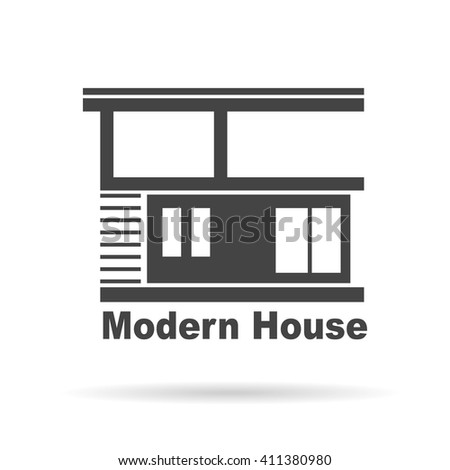 modern house real estate logo design stock vector