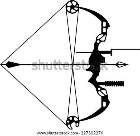 Modern Hunting Bow Arrow Stock Vector 227302276 - Shutterstock