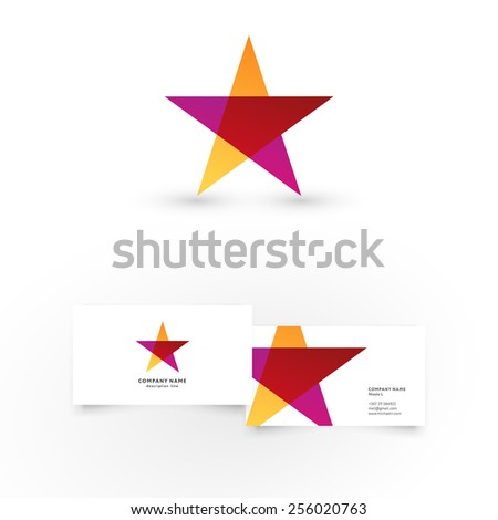 Modern icon design star shape element stock vector royalty free modern icon design star shape element with business card template best for identity and logotypes reheart Images
