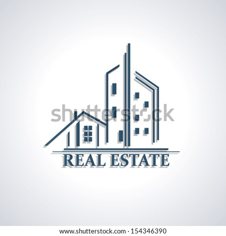 Modern icon  for Real estate business design. Vector illustration - stock vector