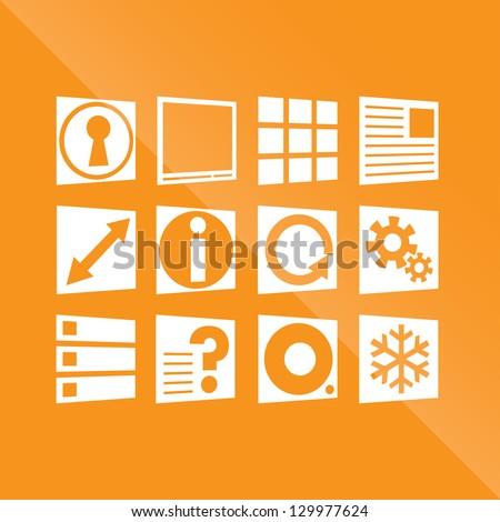Modern Icon Set - stock vector