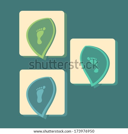 modern icons set of pronation of the foot - stock vector