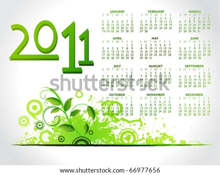 modern 2011 illustration,floral elements with abstract ,vector illustration