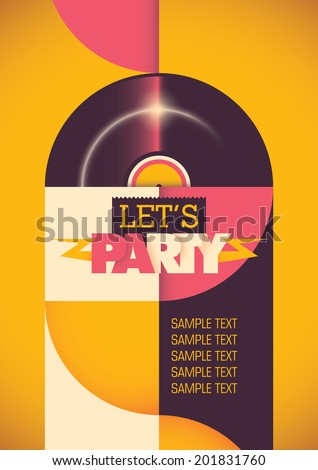 Modern illustration of party poster. Vector illustration. - stock vector