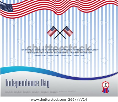 modern independence day background or independence backdrop, for presentation or printing. easy to modify. - stock vector