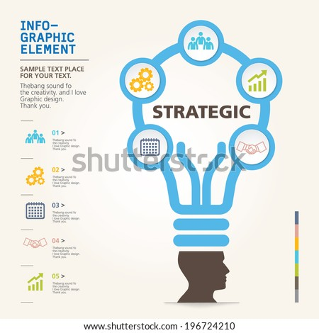 modern info-grapgic design, vector, template Big idea - stock vector