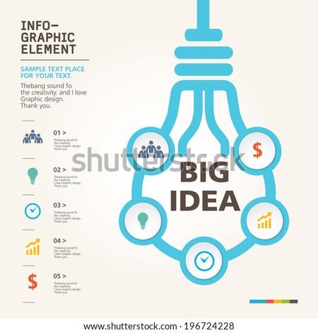 modern info-grapgic design, vector, template Big idea - stock vector