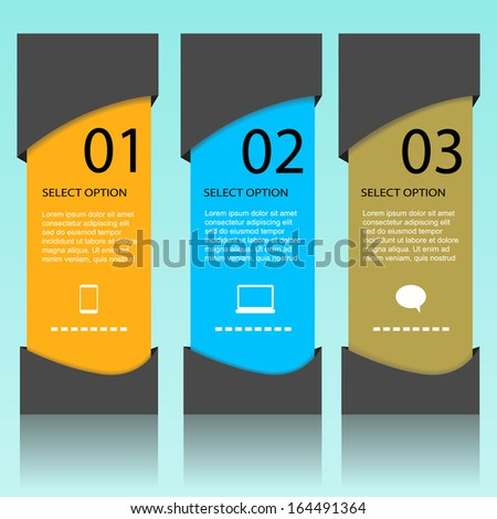 Modern info-graphic option banner design. - stock vector