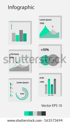 Modern Infograpfic Elements and Charts - stock vector