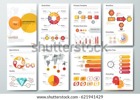 Modern Infographic Brochure Template Pages Diagram Stock Vector - Infographic brochure template