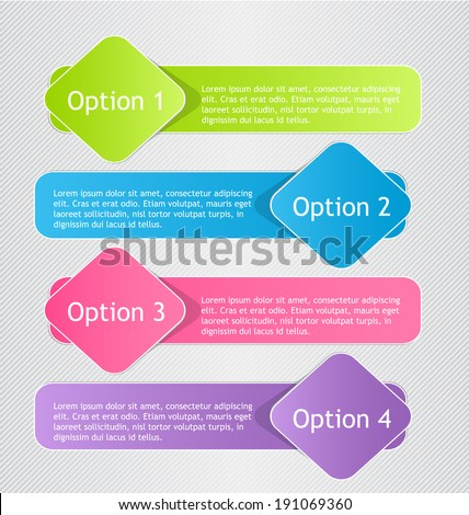 Modern infographic colorful design template vector illustration - stock vector