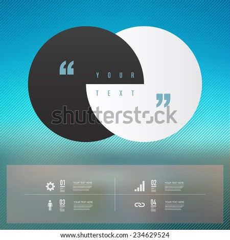 Modern infographic design with beautiful sky background can be used for workflow layout, chart, number options, presentation, web design. Eps 10 stock vector illustration  - stock vector