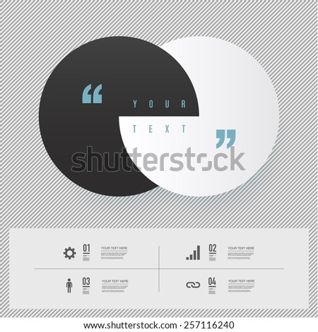 Modern infographic design with black and white stripes background can be used for workflow layout, chart, number options, presentation, web design. Eps 10 stock vector illustration  - stock vector