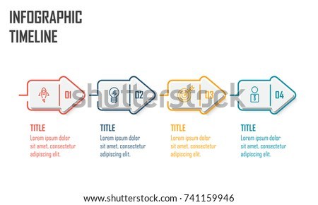 Modern infographic diagram flow chart using stock vector 741159946 modern infographic diagram flow chart for using in business or process presentation 4 step ccuart Gallery