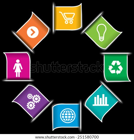Modern Infographic icon Banners - stock vector