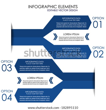 Modern infographic option banner/Design for diagram, workflow layout, web design or working presentation  - stock vector