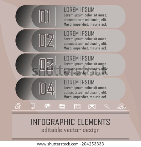 Modern infographic option banner with four steps/design for business, workflow layout, diagram and working presentation/vector illustration