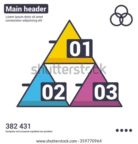 modern infographic option template with pyramid. Vector. Used for workflow layout, banner, diagram, number options, web design - stock vector