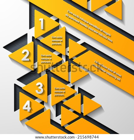 modern infographic, realistic design elements - stock vector