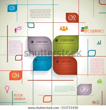 Modern infographic template for business design. Vector illustration - stock vector