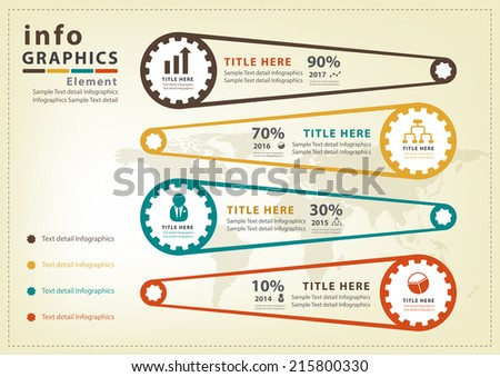 Modern infographic Vector - stock vector