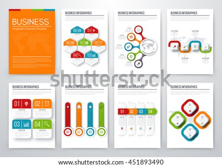 Modern infographic vector concept. Business graphics brochures. Used for workflow layout, diagram, number options, step up options, web template, infographics, websites, brochures, flyers and prints - stock vector