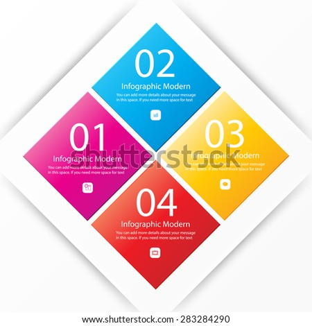 Modern  infographics  banner Vector illustration