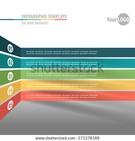 Modern infographics element origami style.  Workflow layout. Vector illustration - stock vector