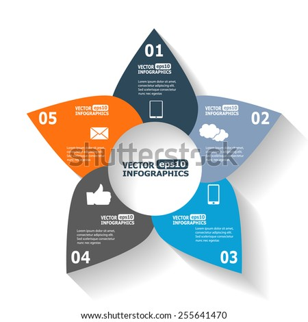 Modern infographics for e-business, diagrams, charts, web sites, mobile applications, banners, corporate brochures, book covers, layouts, presentations etc. Vector eps10 illustration - stock vector