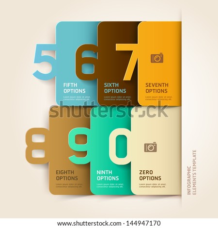 Modern infographics number options template. Vector illustration. can be used for workflow layout, diagram, business step options, banner, web design - stock vector