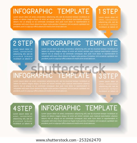 Modern infographics option banner, EPS 10 - stock vector
