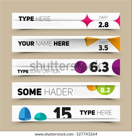 Modern infographics options banner. For workflow layout, number options, web design. Vector illustration  - stock vector
