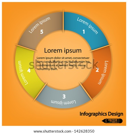 modern infographics options banner. Vector illustration. can be used for work flow layout, diagram, number options, web design. - stock vector