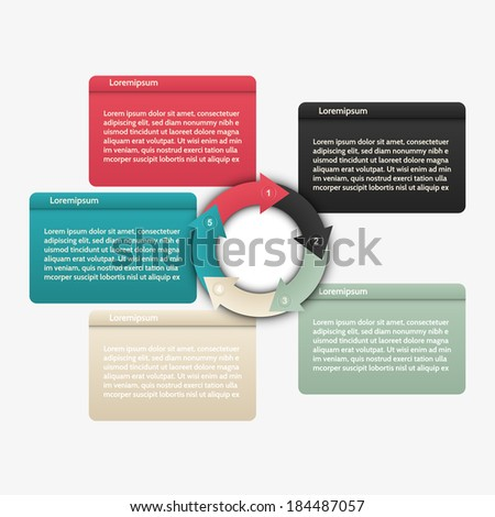 Modern infographics options banner. Vector illustration. can be used for workflow layout, diagram, number options, web design.