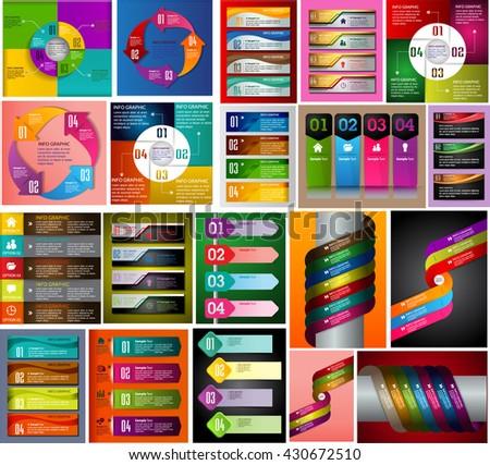 Modern infographics options banner. Vector illustration. web design banner. Labels Stickers Banner. text box banner. vector banner. Set of design elements banner - stock vector