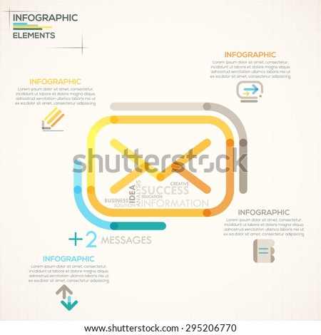Modern Infographics Options Banner Colorful Message Stock Vector
