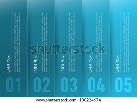 modern infographics steps elements with text - stock vector