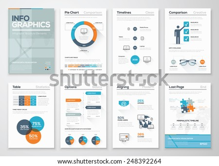 Modern infographics vector concept. Business graphics brochures. Used for workflow layout, diagram, number options, step up options, web template, infographics, websites, brochures, flyers and prints. - stock vector