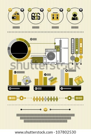 modern infographics with icons - stock vector